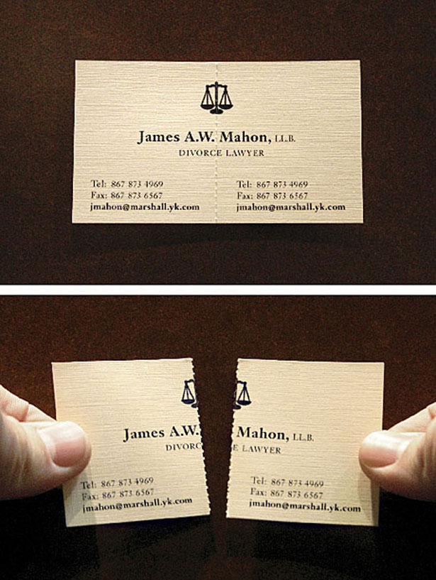 Biz Card Divorce