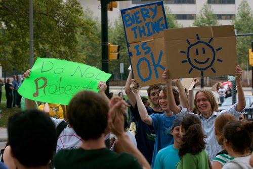 Protest-happy