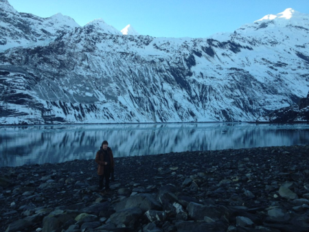 Hayes at the glacier
