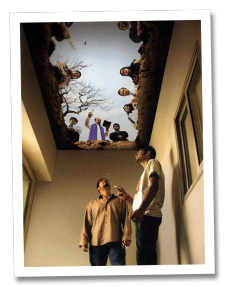 ceiling mural in smoker s lounge ceiling systems